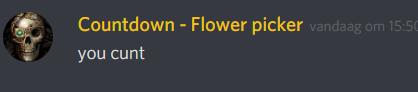 Countdown flower picker